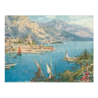 Monte - det carlo havet beskådar vykort