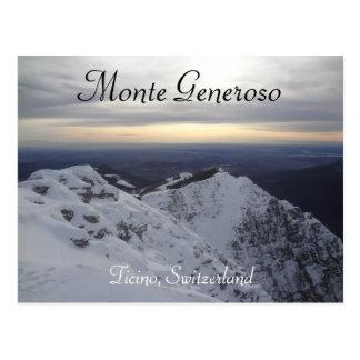 Monte Generoso, Ticino - schweizisk alperna vykort