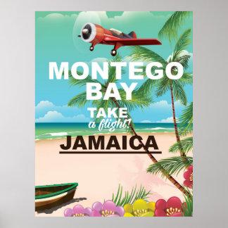 Montego Bay Jamaica vintage resoraffisch Poster