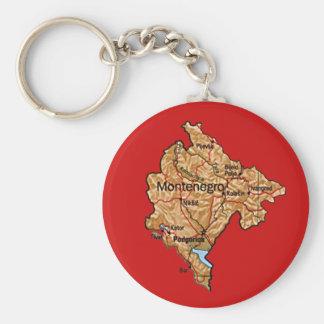 Montenegro karta Keychain Rund Nyckelring