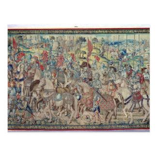 Montera ryttarna, från tapestryen av 'David Vykort