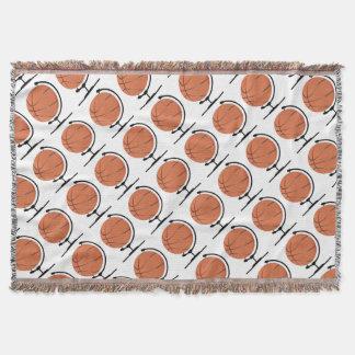 Monterad basket på den roterande svängtappen dekorativ filt