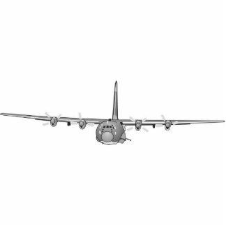 Monterad fotoskulptur för Gunship C-130 vägg Acrylic Cut Outs