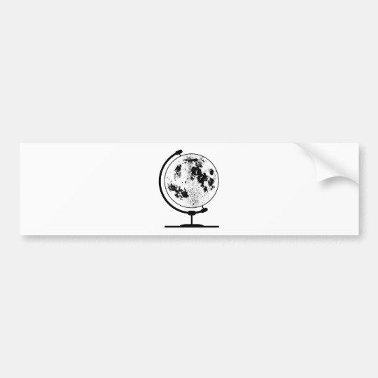 Monterat Lunar jordklot på den roterande Bildekal