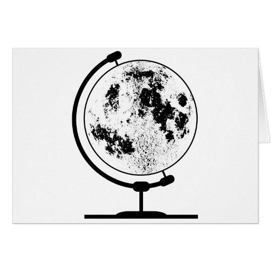 Monterat Lunar jordklot på den roterande Hälsningskort