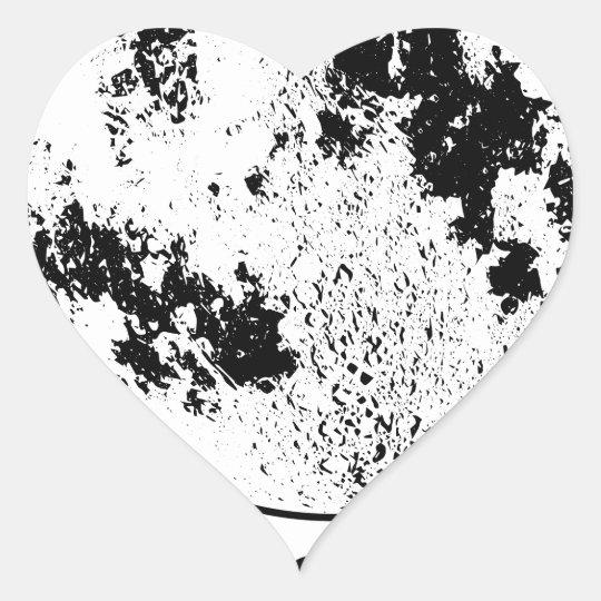 Monterat Lunar jordklot på den roterande Hjärtformat Klistermärke