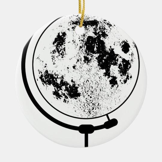 Monterat Lunar jordklot på den roterande Julgransprydnad Keramik
