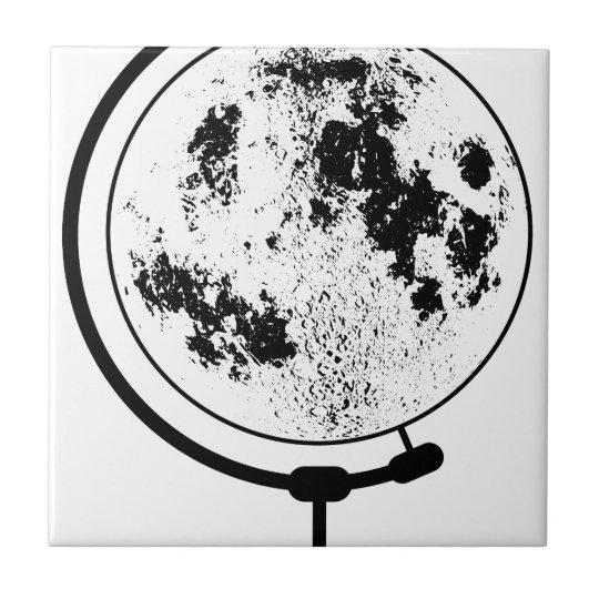 Monterat Lunar jordklot på den roterande Kakelplatta