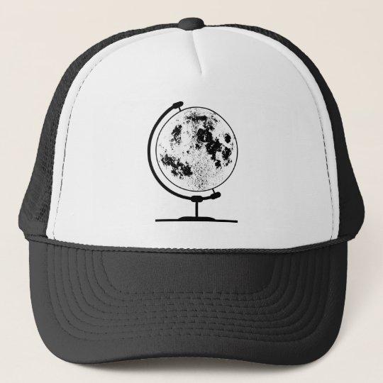 Monterat Lunar jordklot på den roterande Keps