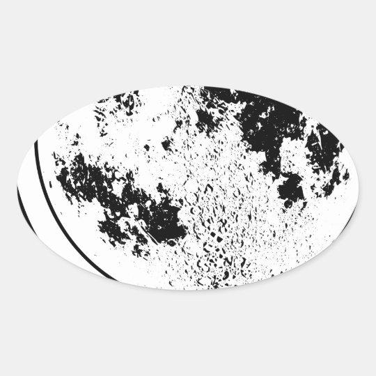 Monterat Lunar jordklot på den roterande Ovalt Klistermärke