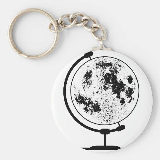 Monterat Lunar jordklot på den roterande Rund Nyckelring
