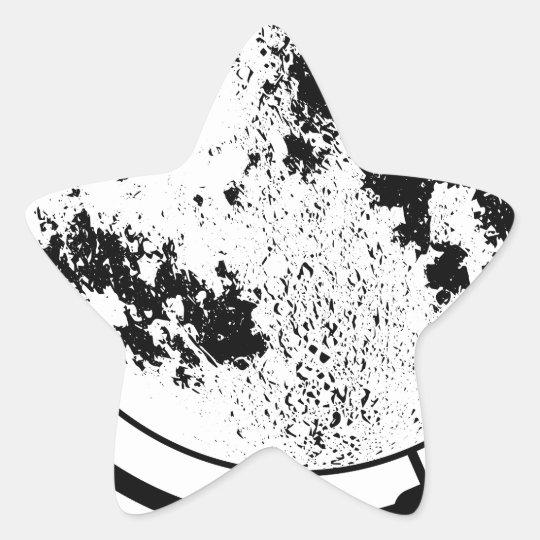 Monterat Lunar jordklot på den roterande Stjärnformat Klistermärke