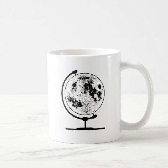 Monterat Lunar jordklot på den roterande Vit Mugg