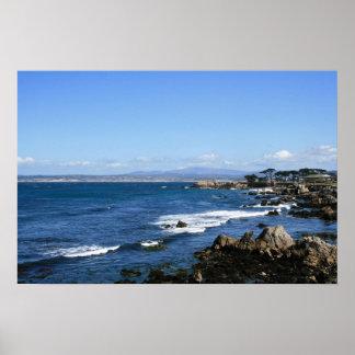 Monterey fjärdkusten, brett foto poster