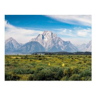 Montering Moran i den storslagna Teton Vykort