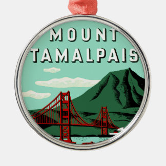 Monteringen Tamalpais reser affischen Julgransprydnad Metall
