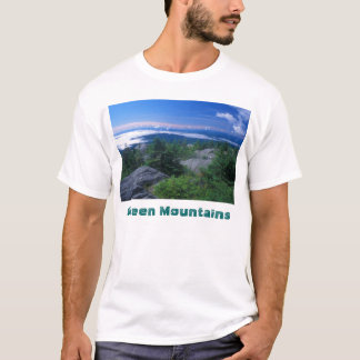 Monteringshungrigtoppmöte, gröna berg t shirt