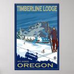 Monteringshuvan, Oregon skidar affischen - Affischer