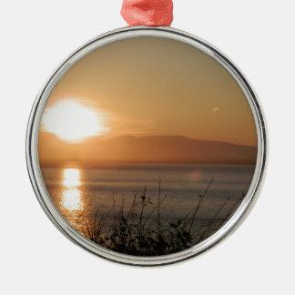 MonteringsSusitna solnedgång i Alaska/, Julgransprydnad Metall