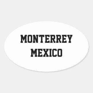 Monterrey Mexico ovalklistermärkear Ovalt Klistermärke