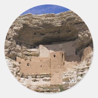 Montezumas monument för slottmedborgare runt klistermärke