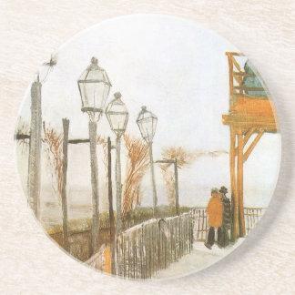Montmartre av Vincent Van Gogh, vintagekonst Underlägg