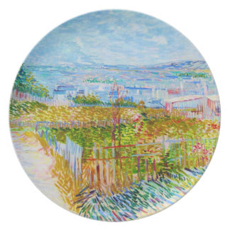 Montmartre - bak Moulinen de la Galette Tallrik