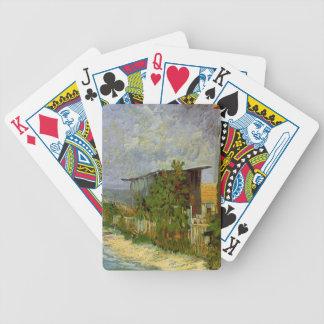 Montmartre väg med solrosor av Van Gogh Spelkort