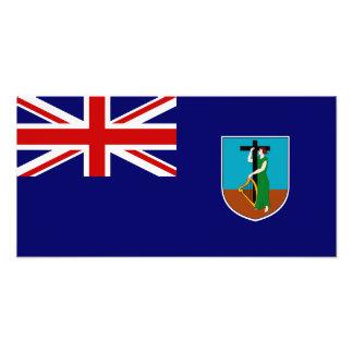Montserrat flagga fotontryck