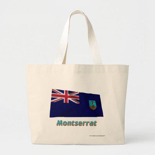 Montserrat som vinkar flagga med namn kasse