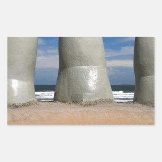 Monument av fingrarna rektangulärt klistermärke
