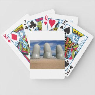Monument av fingrarna spelkort