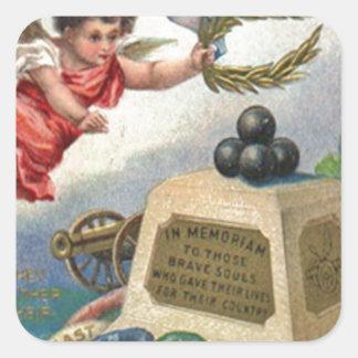 Monument för boll för kanon för Obelisk för Fyrkantigt Klistermärke
