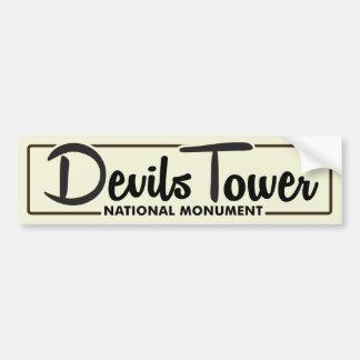 Monument för djävulartornmedborgare bildekal