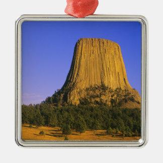 Monument för djävulartornmedborgare i Wyoming Julgransprydnad Metall