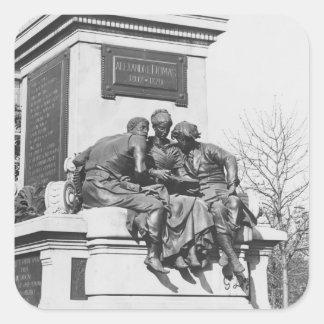 Monument till Alexandre Dumas Pere Fyrkantigt Klistermärke
