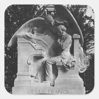 Monument till Cesar Franck Fyrkantigt Klistermärke