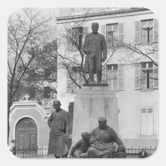 Monument till Emile Zola Fyrkantigt Klistermärke