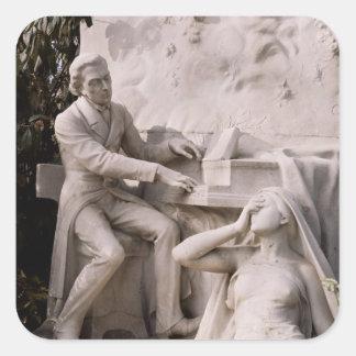 Monument till Frederic Chopin Fyrkantigt Klistermärke