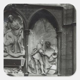 Monument till Handel, 1762 Fyrkantigt Klistermärke