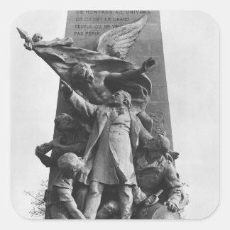 Monument till Leon Gambetta Fyrkantigt Klistermärke