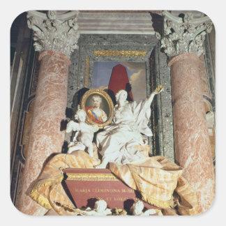 Monument till Maria Clementina Sobieska 1739 Fyrkantigt Klistermärke