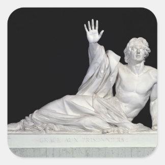 Monument till minnet av Charles-Artus Fyrkantigt Klistermärke