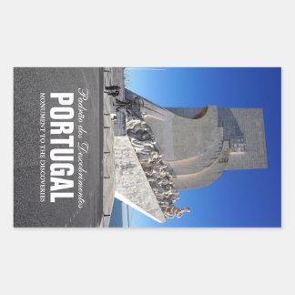 Monument till upptäckter 2% pipe% Padrão Rektangulärt Klistermärke