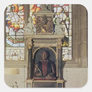 Monument till William Shakespeare c.1616-23 Fyrkantigt Klistermärke