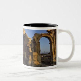 Monumental båge, Palmyra, Homs, Syrien Två-Tonad Mugg