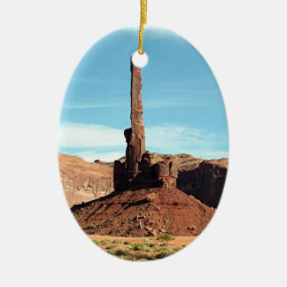 Monumentdal, Utah, USA 5, Totem Pole Julgransprydnad Keramik