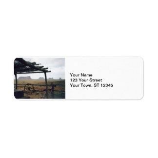 Monumentdalen beskådar returadress etikett