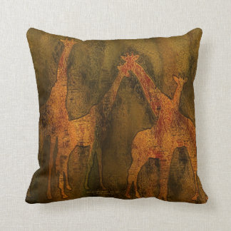 Moods av afrikan - giraffkonstformgivare kudder kudde