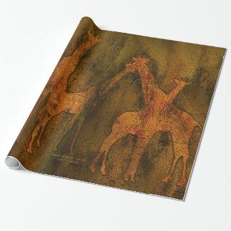 Moods av afrikan - sjal för giraffkonstgåva presentpapper